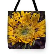Sunflower With Ladybugs Tote Bag