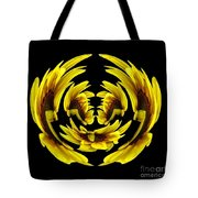 Sunflower With Warp And Polar Coordinates Effects Tote Bag