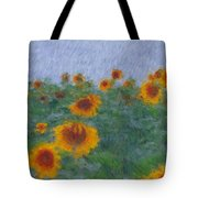 Sunflowerfield Abstract Tote Bag