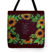 Sunflowers And Dreams Tote Bag