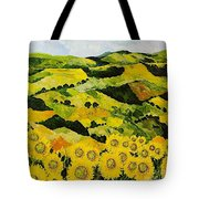 Sunflowers And Sunshine Tote Bag
