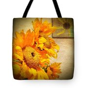 Sunflowers And The Sun Tote Bag