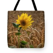 Sunflowers At Corny Tote Bag