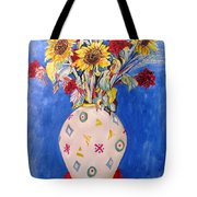 Sunflowers At Home Tote Bag