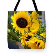 Sunflowers At Market Tote Bag