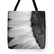 Sunflowers Beauty Black And White Tote Bag