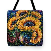 Sunflowers Bouquet In Vase Tote Bag