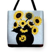 Sunflowers Expressive Brushstrokes Tote Bag