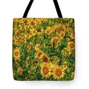 Sunflowers Helianthus Annuus Growing Tote Bag