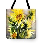 Sunflowers In Abstract Tote Bag