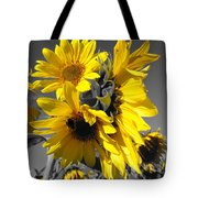 Yellow Selected Sunflowers Tote Bag