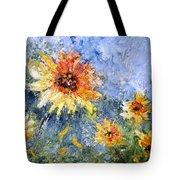 Sunflowers In Bloom Tote Bag