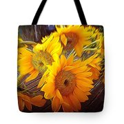 Sunflowers In December Tote Bag