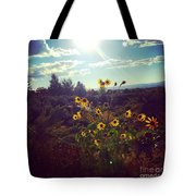 Sunflowers In Sun Light Tote Bag
