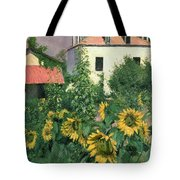 Sunflowers In The Garden At Petit Gennevilliers  Tote Bag