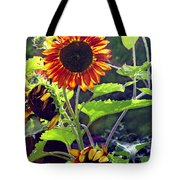 Sunflowers In The Park Tote Bag