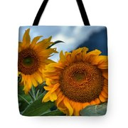 Sunflowers In The Wind Tote Bag