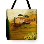 Sunflowers In Tuscany Tote Bag