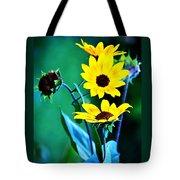 Sunflowers Portrait Tote Bag