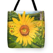 Sunflowers - Red Barn - Pennsylvania Tote Bag