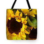 Sunflowers Wide Tote Bag