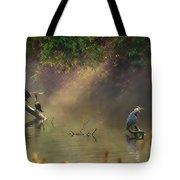 Sunglow Heron Tote Bag
