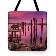 Sunk In Twilight Tote Bag
