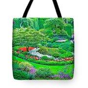 Sunken Garden In Butchart Gardens Near Victoria-british Columbia Tote Bag