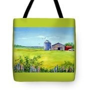 Sunkissed And Windblown Lupines And Laundry In Pei Tote Bag