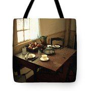Sunlight On Dining Table Tote Bag
