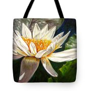 Sunlight On White Lily Tote Bag