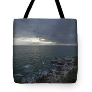 Sunlight Over The Sea Tote Bag