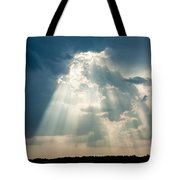 Sunlight Through The Clouds Tote Bag