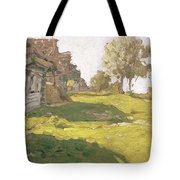 Sunlit Day  A Small Village Tote Bag