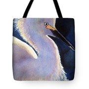 Sunlit Egret Tote Bag