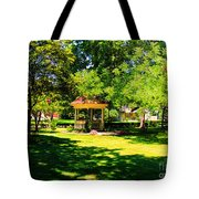 Sunlit Gazebo Tote Bag