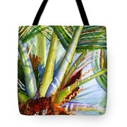 Sunlit Palm Fronds Tote Bag