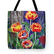 Sunlit Poppies Tote Bag