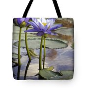 Sunlit Purple Lilies  Tote Bag