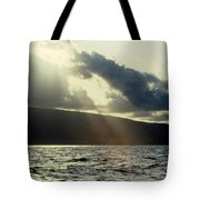 Sunlit Rays Before Sunset Tote Bag