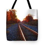 Sunlit Tracks Tote Bag