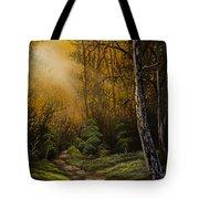 Sunlit Trail Tote Bag