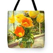 Sunlit Tulips Tote Bag