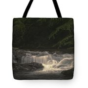 Early Morning Sunlit Waterfall Tote Bag