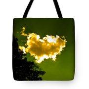 Sunlit Yellow Cloud Tote Bag