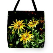 Sunny Flowers Tote Bag