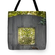 Sunny Garden Gate In Charleston Tote Bag
