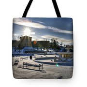 Sunny In The Snow Tote Bag