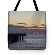 Sunny Isles Fishing Pier Sunrise Tote Bag