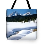 Sunny January Day Sawtooth Mountains Tote Bag